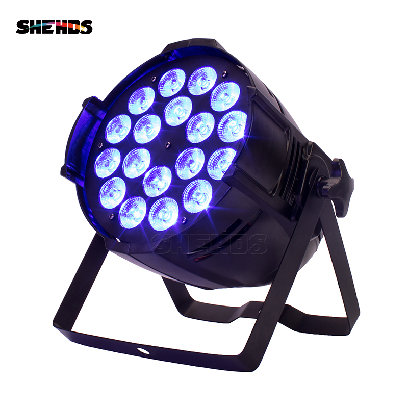 4 pièces En Alliage D'aluminium LED Par 18x18 W RGBWA + UV 6in1 LED Peut Par LED Projecteur Dj Projecteur D'éclairage de Lavage Éclairage De Scène
