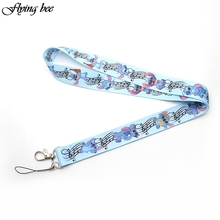 Flyingbee Stitch Keychain Cartoon Cute Phone Lanyard Women Fashion Strap Neck Lanyards for ID Card Phone Keys X0101