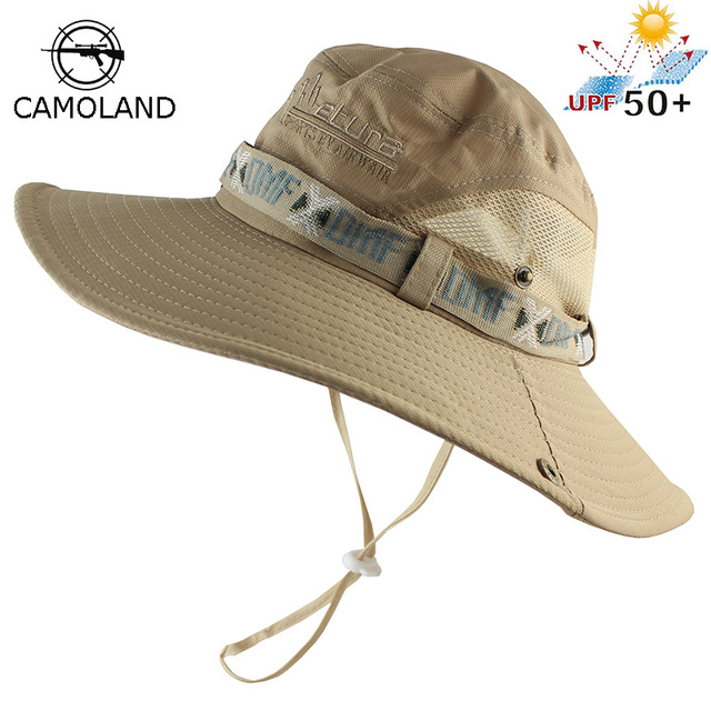 b94c8ce24fa UPF 50+ Bucket Hat Summer Men Women Boonie Hat Outdoor UV Protection Long Wide  Brim