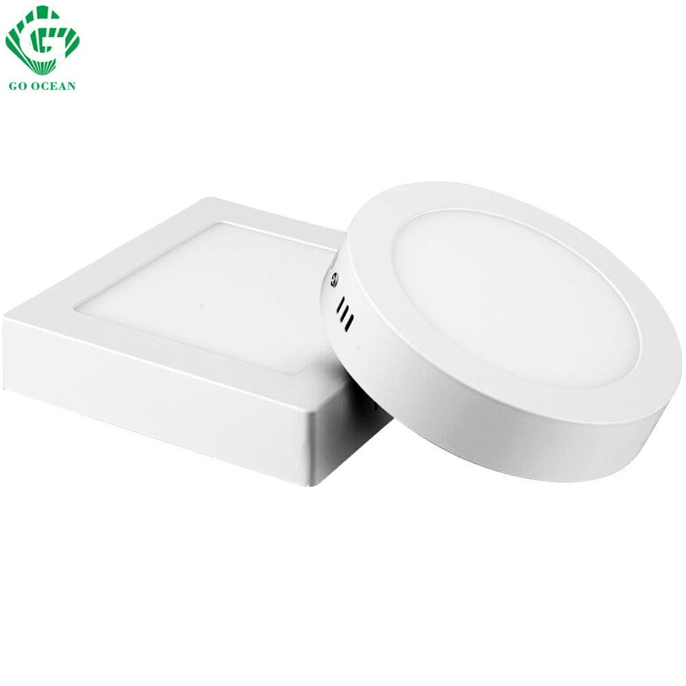 LED Panel Light 6W 12W 18W 24W Round/Square Surface Mounted Downlight lighting Led ceiling down Lights AC85-265V + Driver
