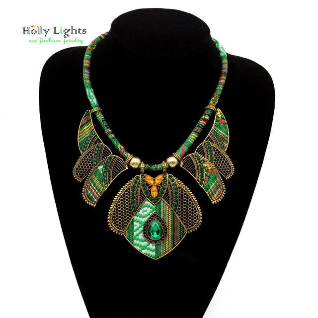 Female vintage choker pendants&necklaces big boho necklaces ethnic bohemian jewelry statement tribal orange bijoux femme mujer 4