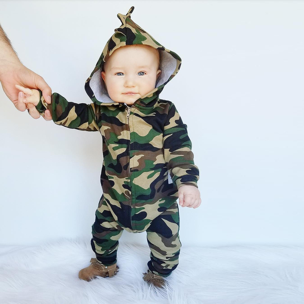 Autumn Toddler Kids Rompers Newborn Baby Boy Girl Infant Hooded Romper Jumpsuit Camo Star Playsuit Outfit Sweatshirt Clothes baby rompers newborn infant clothing 2016 brand baby boy girl long sleeve one piece romper bamboo leaves toddler jumpsuit