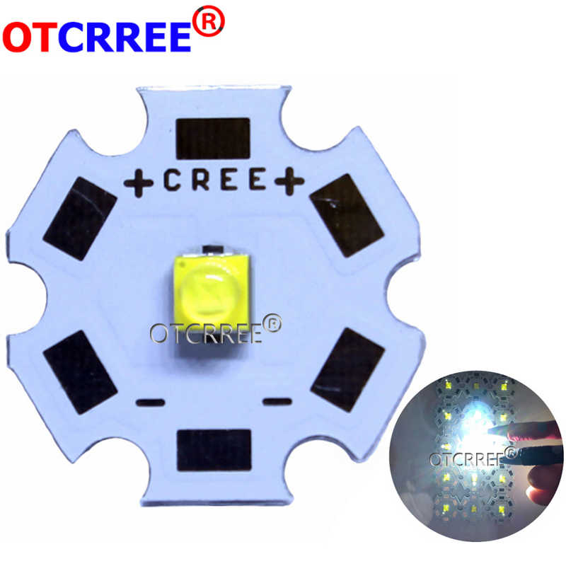 10pcs Cree XTE LED XT-E 1-5W LED Emitter Neutral   White 4000-4500K; Cold White 6500-7000K LED with 20MM PCB
