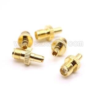 Image 3 - Großhandel JX stecker 100 stücke SMA auf TS9 stecker gerade SMA weibliche auf TS9 vergoldet adapter für 3G4G antenne freies verschiffen