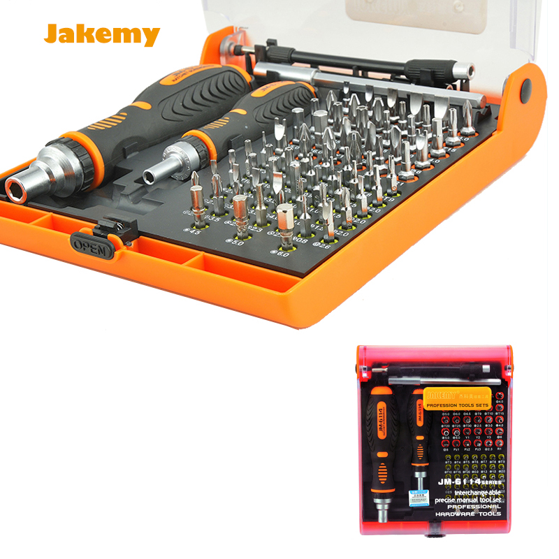 Multi Bits JM-6114 with torx screw tools Screwdriver Set hex cross flat Y star multitool Screw driver for PC cellphone computer universal rachet jakemy jm 6102 screwdriver multitool mobile phone repair tool screw driver set for pc notebook computer