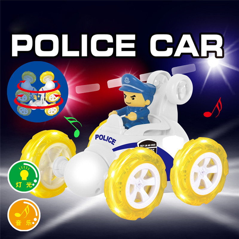 Kid Fun Novelty Toy Gift Flash & Music New 360 Spinning And Flips With Color Flash & Music for Kids Toys Remote Control Car GU20