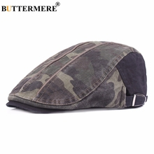 BUTTERMERE militares para hombre sombrero de la boina de camuflaje Casual  Vintage tapa plana mujer Inglaterra 6e396c26ad9