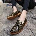 Плоские Туфли Мужчины Повседневная Мокасины Оксфорд Лучший Бренд Мужской Мокасины Обувь Свадьба Мужские Кожаные Обувь Повседневная Zapatos Hombre