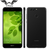 Oryginalny Huawei Nova 2 plus 4G LTE 5.5 cal 1920*1080 p Mobilna Kirin 659 Octa Rdzeń telefon Android 7.0 4 GB 128 GB Podwójna Kamera Tylna