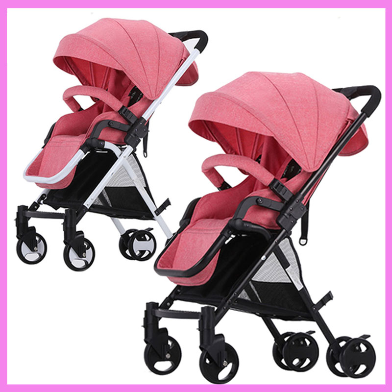 Lightweight Folding Portable Baby High Landscape Can Sit Can Lie Umbrella Cart Baby Car Stroller Buggy Pram Pushchair 0~36 M baby stroller high landscape four wheel shock cart can sit can lie