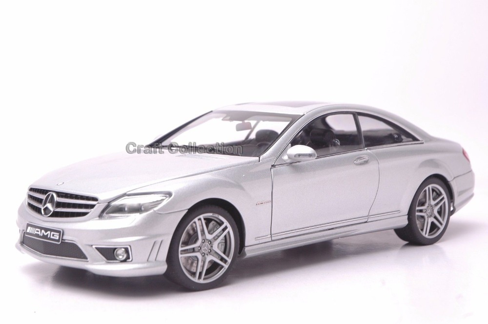 * Autoart 1:18 Car Model Benz CL63 AMG Coupe (Silver) Diecast Model Car Luxury Gifts Rare Miniature Hot Selling