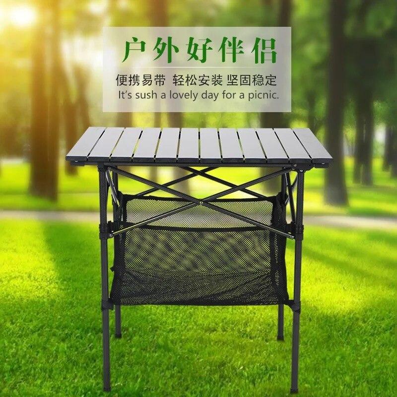 Haute qualité 70 cm * 70 cm * 70 cm produits de plein air décontracté plage barbecue pique-nique table de pique-nique pliante en aluminium