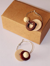 MOQ>$5 QTE020 /Sweet Girl/ Free shipping /Factory supply /wholesale price / wood  earrings