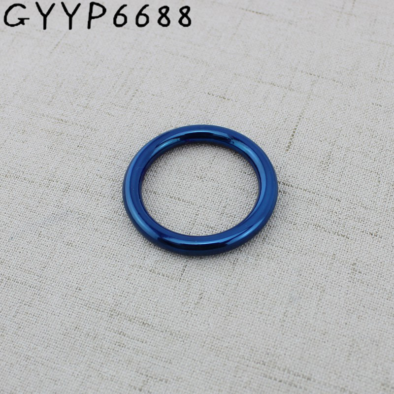 10pcs Blue Closed Round O Ring For Bags  Purse Sewing  Pet's Strap O Ring,bags' Accessories,alloy Welded Rings