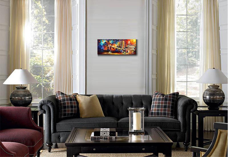 Moderne Muziek Woonkamer : Pop art handgeschilderde canvas olie mes schilderijen viool muziek