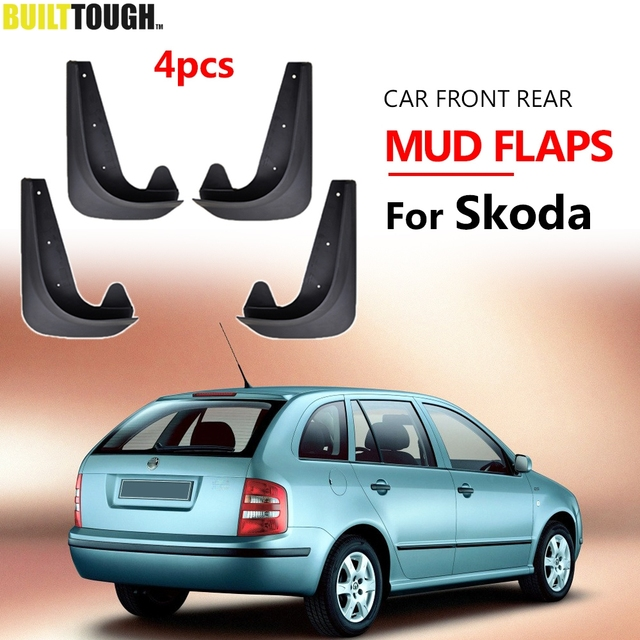 Set Universal Mudflaps Mud Flaps Splash Guards Mudguards For Skoda Citigo Fabia Octavia Rapid Roomster Yeti 6Y 5J NJ 1U 1Z 5E