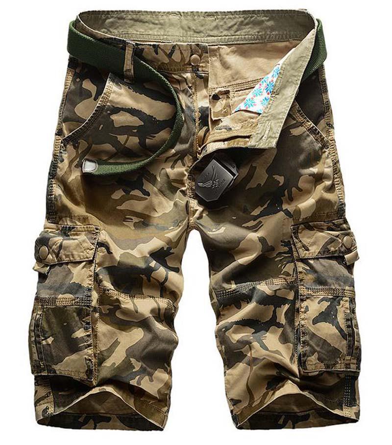 HOT 2020 Summer New Cotton Military Cargo Army Tooling Beach Camouflage Men Desert Tactical Erkek Multi-Pocket Short Homme