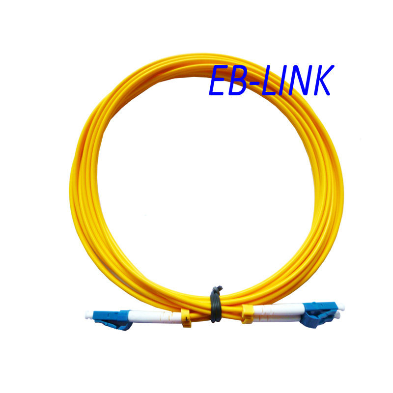 Optical Fiber Patch Cord Cable,LC/PC-LC/PC,3.0mm Diameter,Singlemode 9/125,Duplex,LC to LC 100 Meters