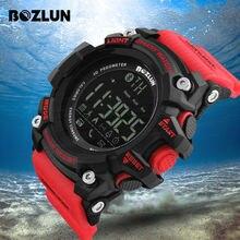 BOZLUN Pedômetro Relógio Inteligente Homens Sports Relógios LED Digital Relógio de Pulso À Prova D' Água Câmera Remota Smartwatch Para Android IOS ST01