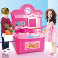 Children Simulation Kitchen Toys Kids Play Toys Baby Kitchen Toys Set Girl's Pink Mini Kitchen Suit Birthday Gifts