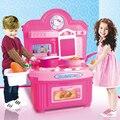 Los niños juguetes de cocina simulación Kids Play juguetes bebé juguetes de cocina Set de la muchacha Pink Mini traje de la cocina regalos de cumpleaños