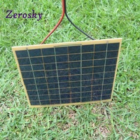 Zerosky 5W/12V Phone Car Solar Panel Charger Battery Trickle Charger Backpack Power for Casual Use 210*220*3MM