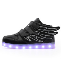 Kalupao Kids Light Up Shoes With Wing Led Slippers Do With Light Up Led Shoes Infant For Children Boy & Girl Luminous Sneakers