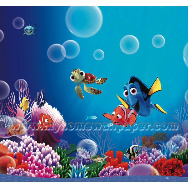 Finding Nemo Cartoon Wallpaper Murals For Kids RoomD1 00119