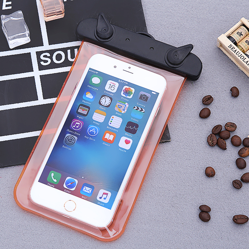 Outdoor Multi-style Valve Type Waterproof Swimming Bags For Smartphone Touch Screen Bag Swim Essential Phone Bags Random Colors