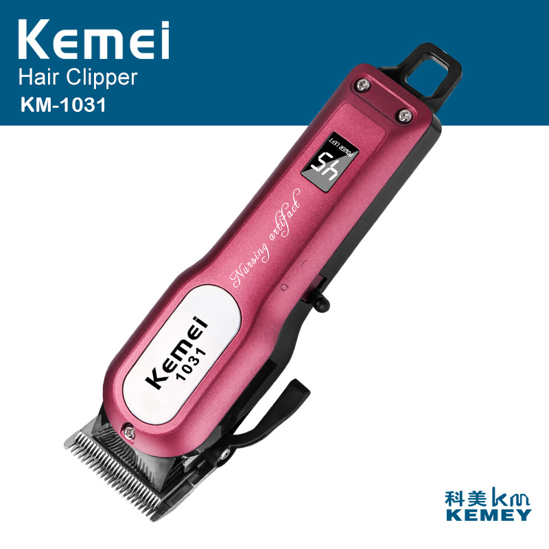 Professional Cordless Hair Clipper Electric Hair Beard Trimmer Powerful Hair Shaving Machine Hair Cutting Razor Barber 100 240v kemei hair clipper beard electric razor electric professional hair trimmer powerful hair shaving machine barber