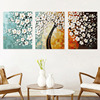 Lavender Fields Wall Pictures For Living Room Wall Art Home Decor Triptych Canvas Oil Painting By