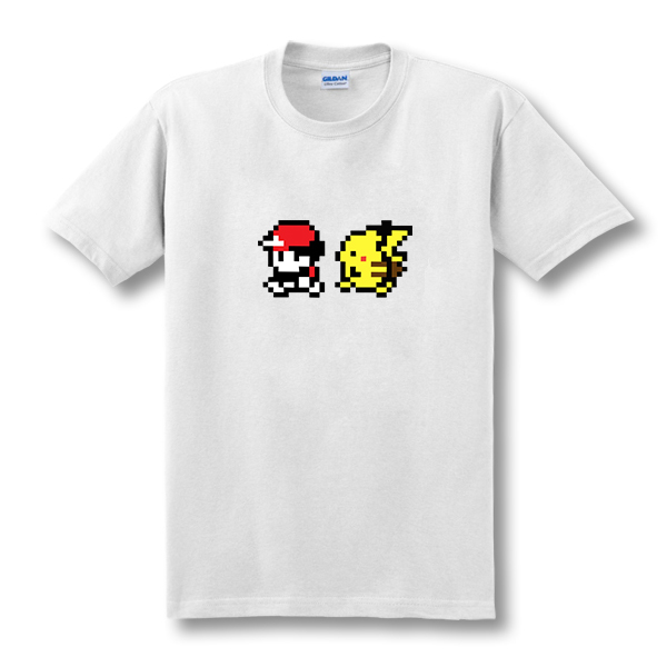2019 New Cartoon Pokemon Ash And Pikachu T Shirts Men Short Sleeve Anime Mens Clothing Fake Top Tees  Size XS-XXL