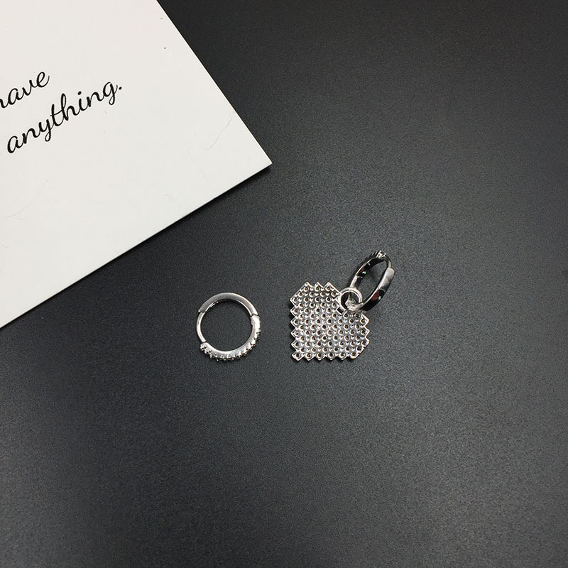 2019 nueva moda circonita asimétrico púrpura corazón boda gota pendientes joyería de moda marca de lujo pendientes de Monaco de moda 4