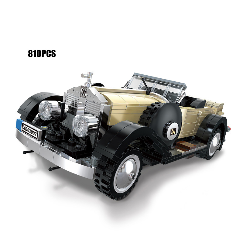 Alof Creative Dream Cars Classic Rolls-Royce Noble Vintage Car MOC Building Boock Model Bricks Toys for Boys Gifts Collection стоимость