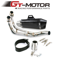 GT Motor Exhaust Full System FOR Yamaha MT 07 FZ 07 Tracer 2014 2016 With Muffler