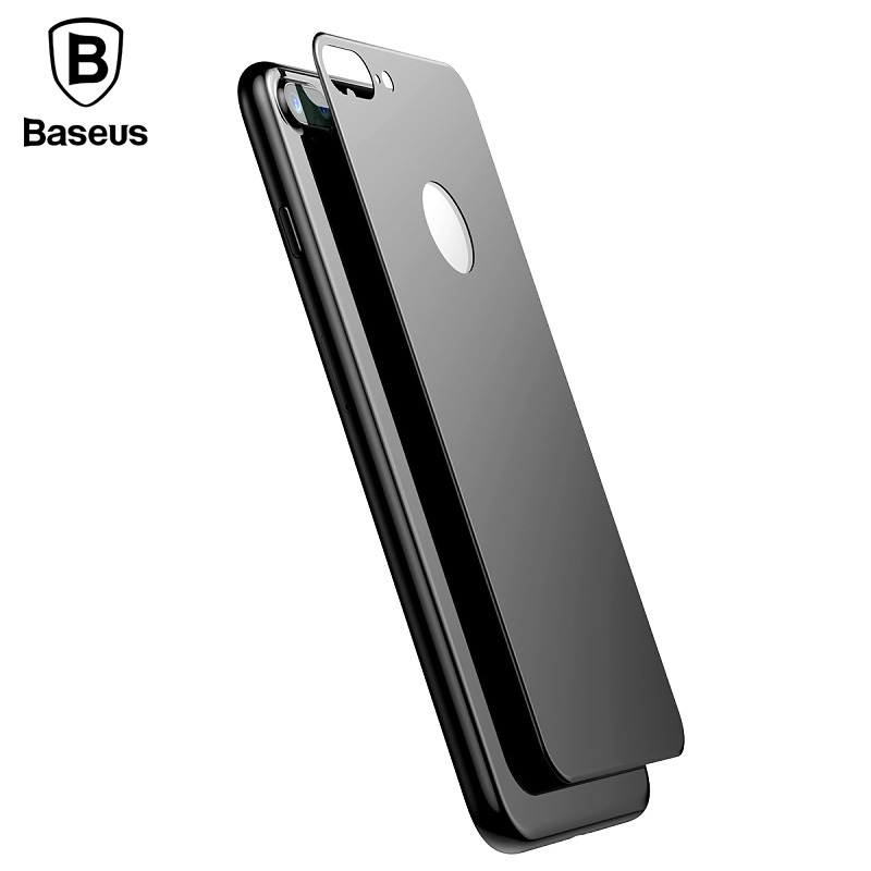 BASEUS Back Glass for iPhone7 iPhone7plus Matte Tempered Glass 3D Protector 0.33mm Smartphone Protector for iPhone 7 Plus