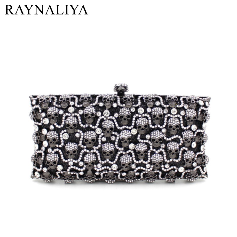 цены  Special Offer New Arrival Women Hollow Out Evening Bags Ladies Wedding Party Clutch Bag Minaudiere Skull Purses Smyzh-f0060