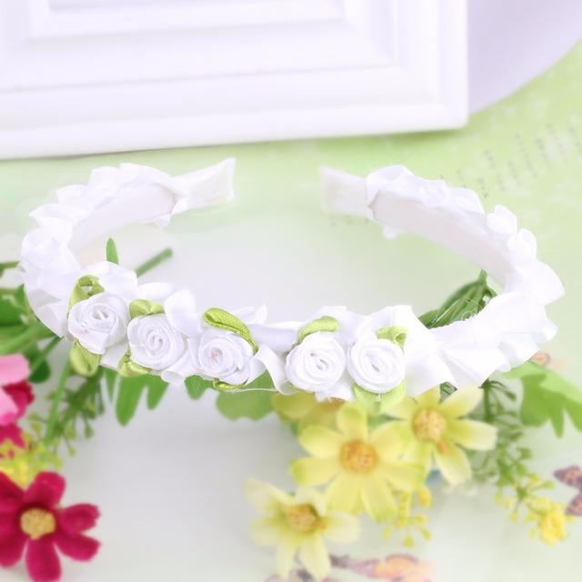 Cute Children Flower Hair Hoop Korea Crown Wedding Headband Headwear Girls Floral Hairband Headdress Princess Hair Accessories