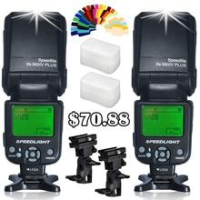 2stk INSEESI Universal IN560IV IN-560IV Plus Trådlös LCD Flash Speedlite För Canon Nikon Pentax VS YN-560III YN-560IV JY-680A