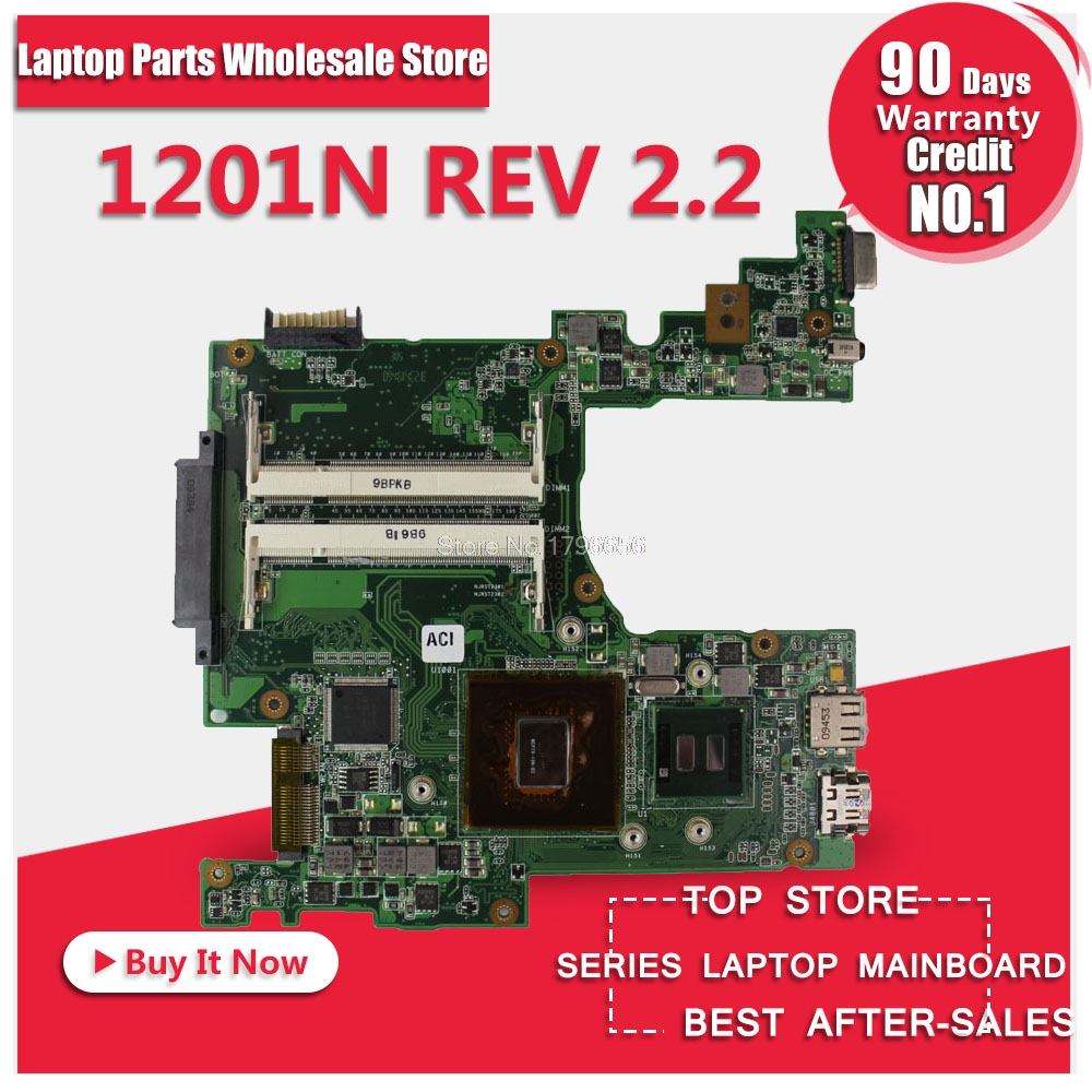 Eee PC 1201N Motherboard For Asus 1201N REV 2.2 Mainboard Chipest With Processor Fully Tested s-2