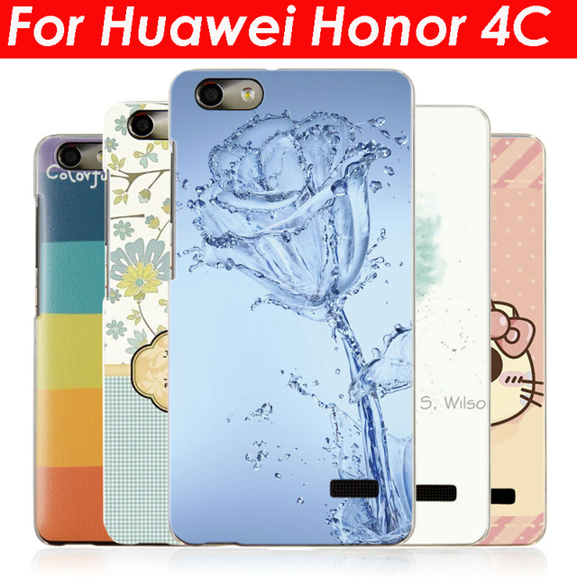 sale retailer de960 20fdb US $4.29 |For Huawei Honor 4C Back Cover , 20 Style Hard Plastic Phone  Cases Honor 4C With Screen Protector on Aliexpress.com | Alibaba Group