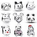 Clear CZ Tortuga de Mar Caballo Gato Del Perro de la Panda Animal Del Encanto Cupieron La Pulsera 925 de Plata DIY Accesorios de La Joyería