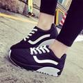 Миссис выиграть Женская Обувь Весна Осень Мода Высота Увеличение Обувь Плоские Дышащие Холст Обувь Hombres Zapatillas Mujer