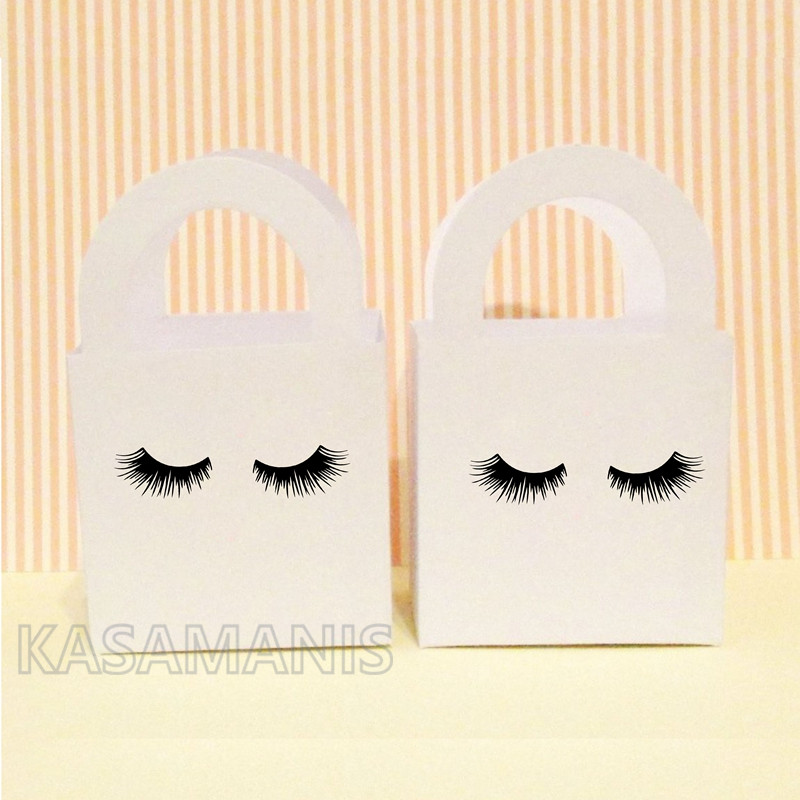 Cute Eyelash Art DIY Ornament Decals , Girl Birthday Beauty Makeup Party Invitation Seal Vinyl Sticker Decoration