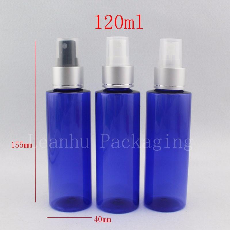 120ml blue bottles with silver sprayer