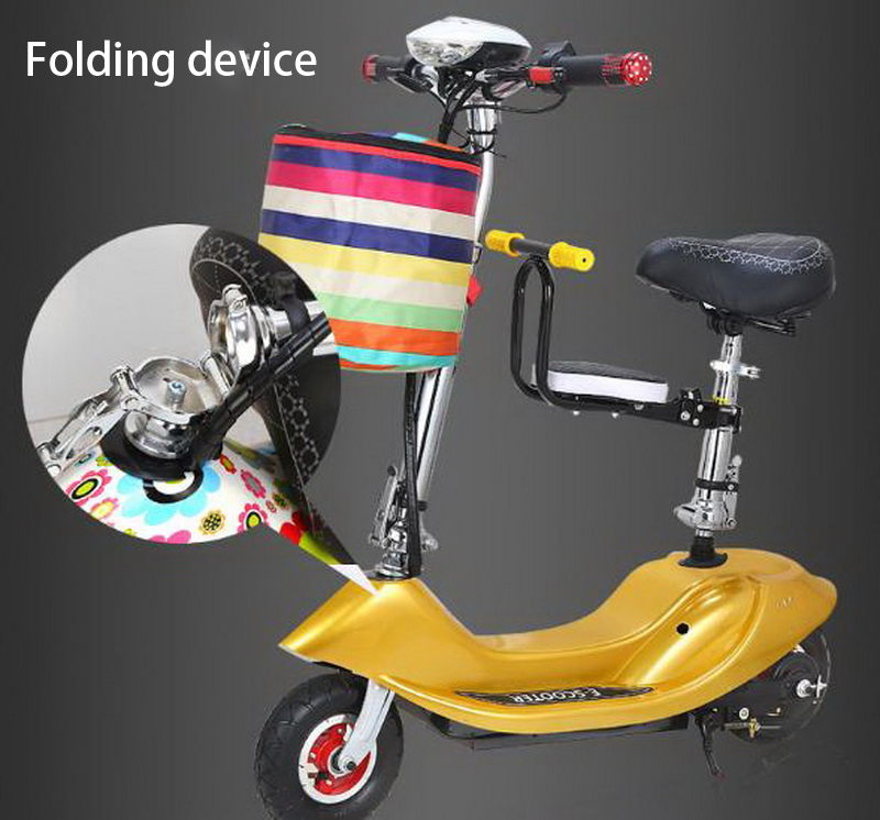 Perfect 261025/Ladies mini folding car bicycle scooter adult student portable two rounds/Scrub pedal 30-50km/h velo electrique 14