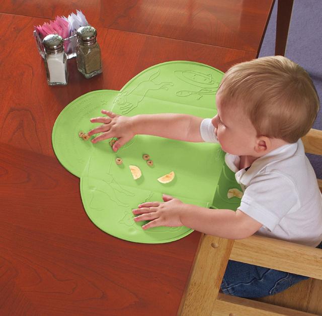 Bebê comer mat O antibacteriano pad refeição dobrável portátil à prova d' água multicolor escola placemats silicone utensílios de cozinha