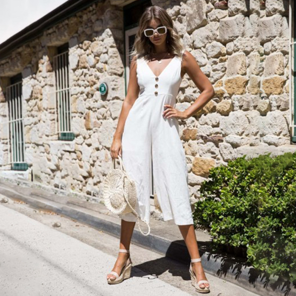 Jumpsuits for Women 2018 New Arrivals One Piece Loose Summer Jumpsuit Plus Size Women Streetwear Off Shoulder Backless Overalls