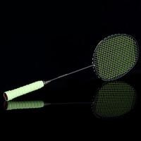 Graphite Single Badminton Racquet Professional Carbon Fiber Badminton Racket with Carrying Bag C55K Sale
