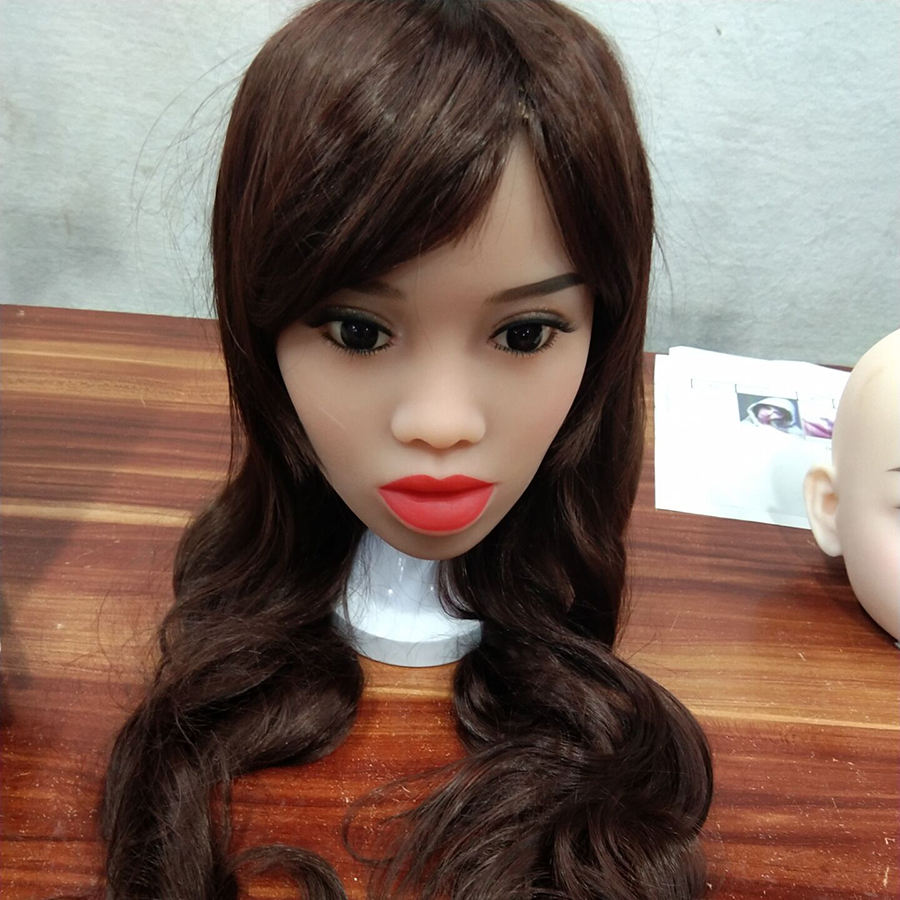 88 Oral Sex Doll Head Black African Girl Sex Toy Silicone Love Doll 135cm 176cm Body Men Sex Toy in Sex Dolls from Beauty Health